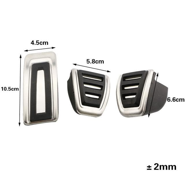 Jameo Auto Stainless Steel Car Fuel Brake Pedal Rest Foot Pedals Cover for Volkswagen VW Skoda Kodiaq 2016 2017 2018 2019 2020