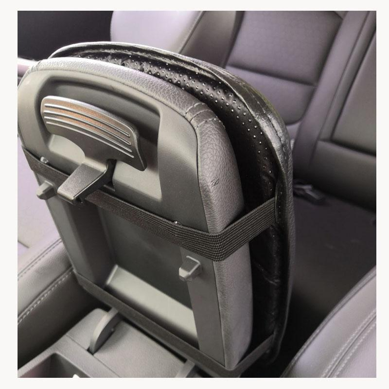 Carbon Fiber Texture Pu Leather Car Armrest Storage Protection Cushion For Geely Atlas