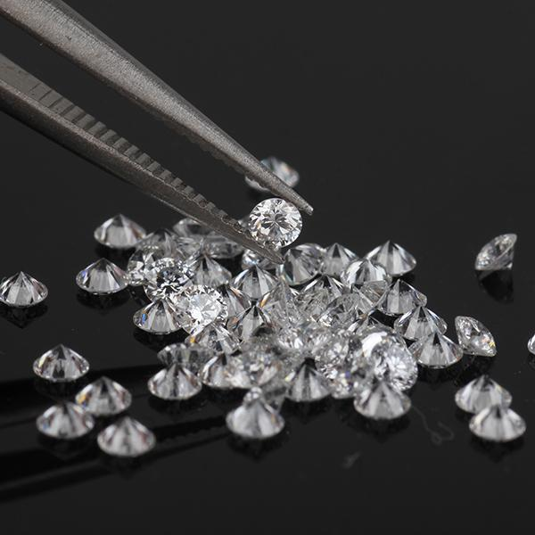Round brilliant  Lab grown diamonds for jewelry making