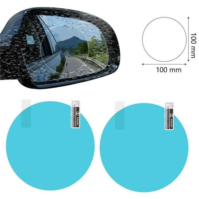 2Pcs/Pair Car Sticker Anti Fog Car Mirror Window Clear Film Anti Fog Car Rear View Mirror Protective Film Waterproof Rainproof