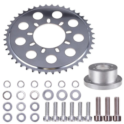 Rear Hub Adapter Sprocket 44T for Gas Motorized Bicycle Wheel 2 Stroke Engine Kit - Go Buy Dubai