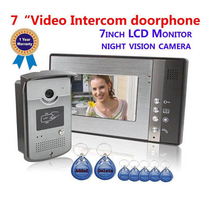 Color Touch Screen Video Door Phone Intercom Door Bell System Unlocking Don't Disturb - Go Buy Dubai