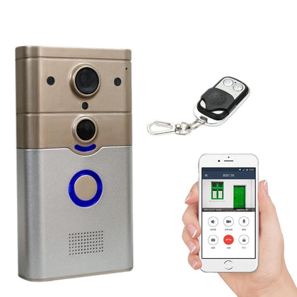 Wireless WIFI Smart Doorbell with PIR Alarm & Dingdong for Real-time Video Call Unlock Photograph Videotape by Free Mobile APP - Go Buy Dubai