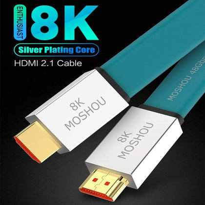 Enthusiast HDMI 2.1 Cable Ultra-HD (UHD) 8K@120Hz HDMI 2.1 Cable 48Gbs Male to Male Audio Video Cable - Go Buy Dubai
