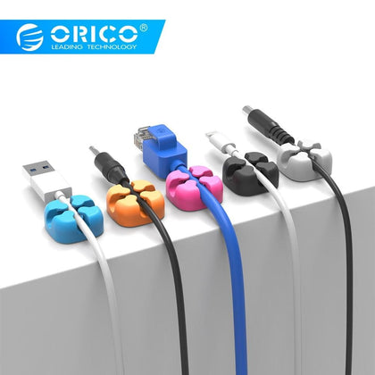 CBSX Cable Winder Silicone Cable Organizer USB Cable Management Clips Cable Holder For Mouse Headphone Earphone - Go Buy Dubai