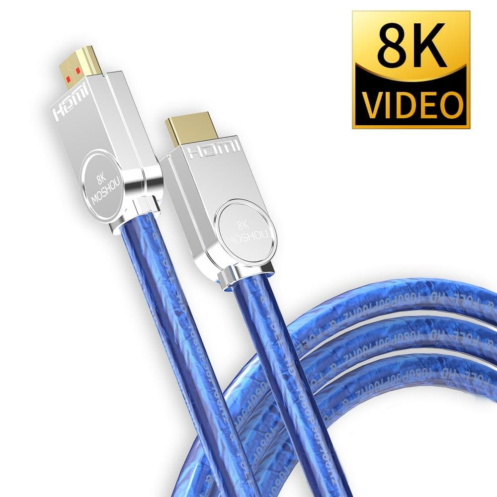 8K 60Hz HDMI 2.1 Cables bandwidth ARC MOSHOU Video 2m Cord High Definition Multimedia Interface for Amplifier TV