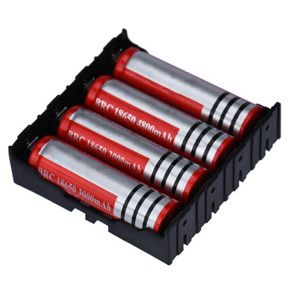 Hot 1pcs DIY Black Storage Box Holder Case For 4 x 18650 3.7V Rechargeable Batteries - Go Buy Dubai