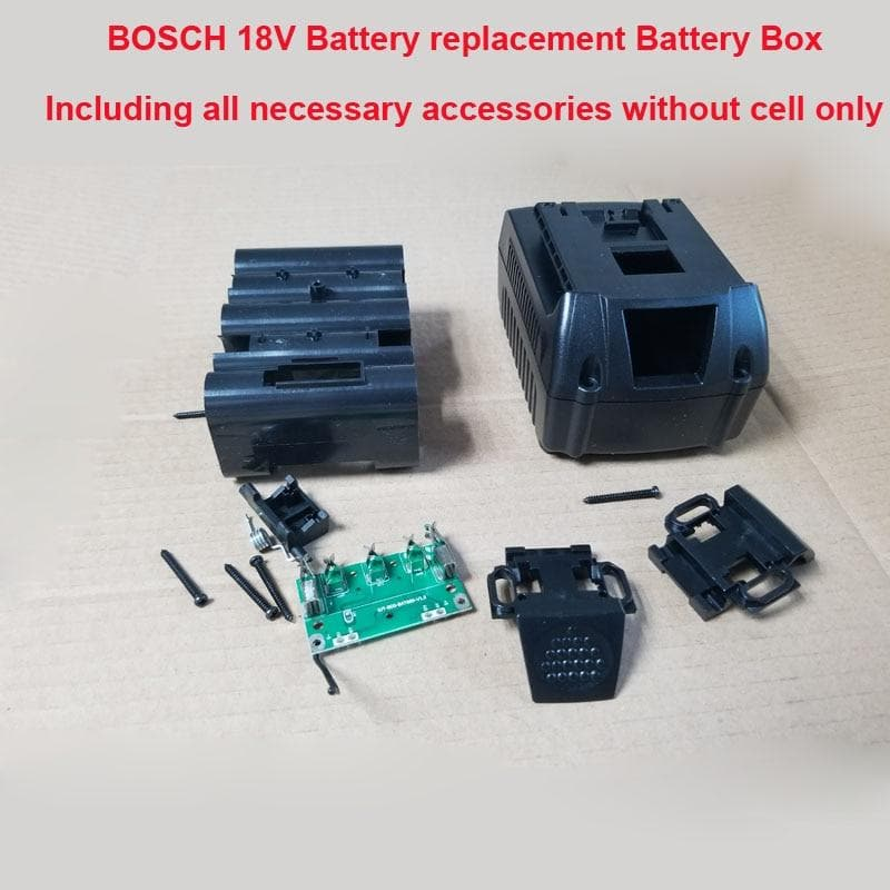 18 V 5S Replacement Box storage box with PCB board and GSB/GSR18 plastic case can hold Max 10 pcs
