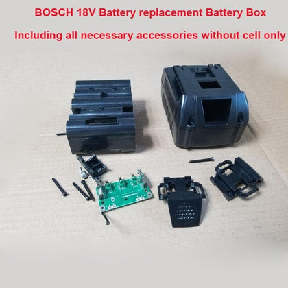 18 V 5S Replacement Box storage box with PCB board and GSB/GSR18 plastic case can hold Max 10 pcs - Go Buy Dubai