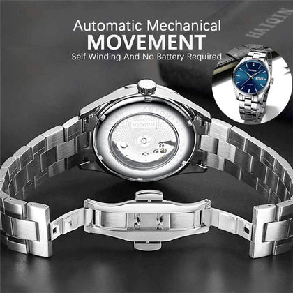 Brand Luxury Men Watches Automatic Watch Men Full Steel Waterproof Business Military Sport Mechanical Wristwatch - Go Buy Dubai
