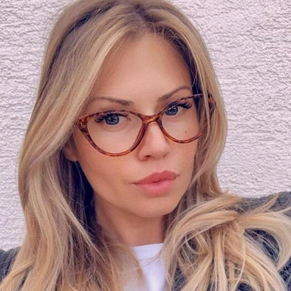 Ladies Optical Eyeglasses Fashion Female Stylish Frame Spectacles for Women Prescription Eyewear Glasses Frame Cat-Eye Style - Go Buy Dubai