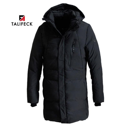 TALIFECK 2018 NEW  Warm winter jackets men Thicken Long Cotton Padded Fashion Casual  Overcoat Men Hooded Coat  High Quality - Go Buy Dubai