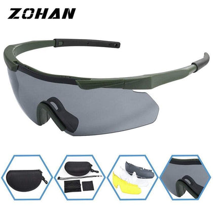 ZOHAN Polarized Cycling Riding Outdoor Sports Bicycle Glasses Men Women Mountain Bike Sunglasses 20g Goggles Eyewear 3 LensUV400 - Go Buy Dubai