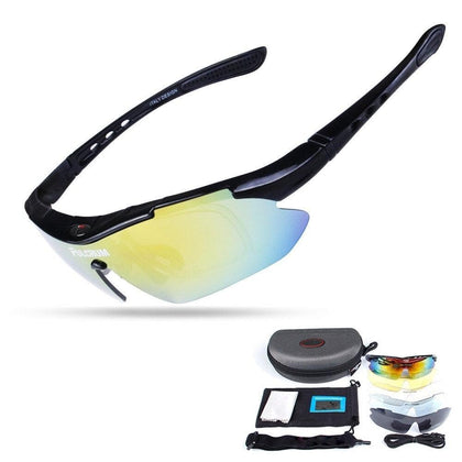 Polarized Cycling Sun Glasses Outdoor Sports Bicycle Glasses Men Women Bike Sunglasses 5 lenses oculos ciclism Goggles Eyewear - Go Buy Dubai