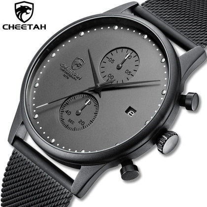 Brand Men Watches Chronograph Quartz Watch Men Stainless Steel Waterproof Sports Clock Watches Business - Go Buy Dubai