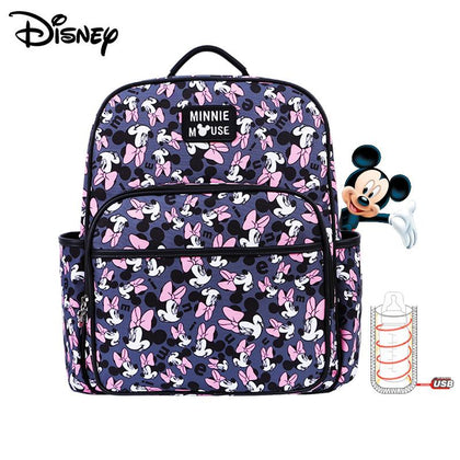Disney Mommy Diaper Bags Mother Large Capacity Travel Nappy Backpacks anti-loss zipper Baby Nursing 	Disney Bags dropshiping - Go Buy Dubai
