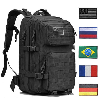 Tactical Backpack 1000D Military Men Women Army Bag Outdoor Waterproof 43L Bagpack Waterproof Travel Hiking Mochila Molle Bags - Go Buy Dubai
