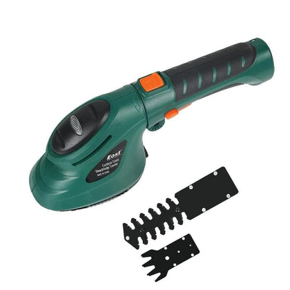 Gardening Garden Power Tool 3.6V 2 in 1 Li-Ion Battery Lawn Hedge Trimmer Pruning Electric Weeder Rechargeable Fence Scissors - Go Buy Dubai