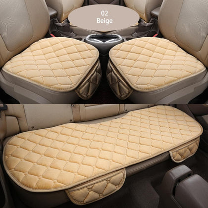 Car Seat Cover Winter Warm Velvet Seat Cushion Universal Rear Back Chair Seat Pad for SUV Vehicle Auto Car Seat Protector - Go Buy Dubai