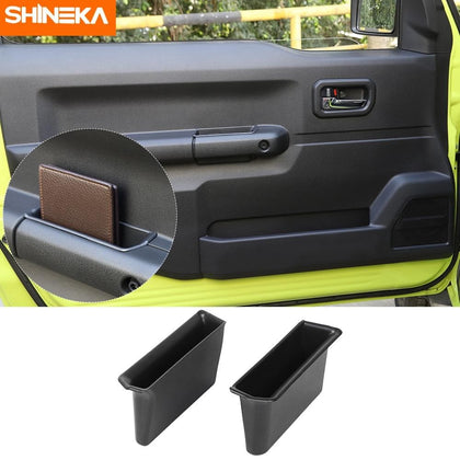 SHINEKA Stowing Tidying For Suzuki Jimny JB74 2019+ Car Door Armrest Storage Box Handle Pocket 2pcs protection For Suzuki Jimny - Go Buy Dubai