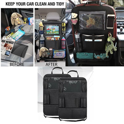 1Pcs Car Back Seat Organiser Travel Storage Bag Organizer iPad Pocket Holder - Go Buy Dubai