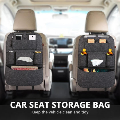 Car Organizer Seat Back Storage Mesh Net Bag Car Styling for BMW 1 2 3 4 5 6 7 Series X1 X3 X4 X5 X6 E60 E90 F07 F09 F10 F15 F30 - Go Buy Dubai