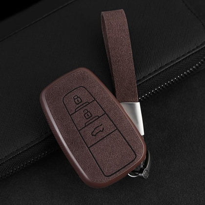 2019 New Plastic+Leather Car Key Case Cover Shell For Toyota CHR C-HR Prado Prius Camry Corolla RAV4 2017 2018 2019 Accessories - Go Buy Dubai