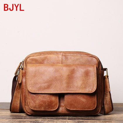 Factory new small bag men's leather shoulder bag women frosted leather cross-body bag fashion wild small square bag men - Go Buy Dubai