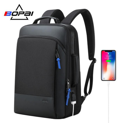BOPAI 2019 Men Backpack Expandable Weekend Travel Backpack Men Water Repellent Laptop Backpack Computer Back Pack Male Bagpack - Go Buy Dubai