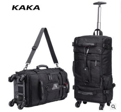 KAKA Men Travel trolley rucksack Rolling Luggage backpack bags on wheels wheeled backpack for Business Cabin Travel trolley bags - Go Buy Dubai