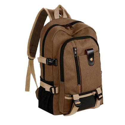 Vintage Travel Canvas Leather Backpack Rucksack Satchel School Hiking Bag Waterproof Climbing Unisex Travel Men Backpack#G30 - Go Buy Dubai