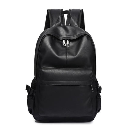 New Fashion Men Backpack Men's Backpacks for Teenager Luxury Designer PU Leather Backpacks Male High Quality Travel Backpacks - Go Buy Dubai