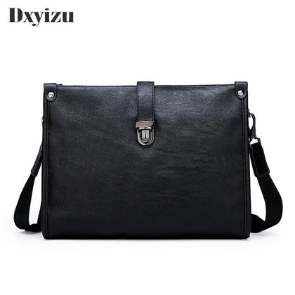 Best Selling Fashion Simple Business Men's Briefcase Leather Laptop Bag Casual Men's Bag Shoulder Bag - Go Buy Dubai
