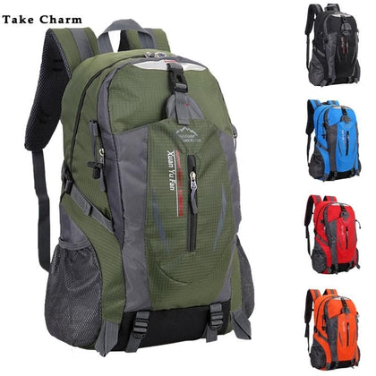 New Men Nylon Travel Backpack Large Capacity Camping Casual Backpack 15-inch Laptop Backpack Women Outdoor Hiking Bag - Go Buy Dubai