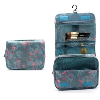 Hanging Cosmetic Bags Large Waterproof Beauty Travel bag Luggage organizer Packing cubes Make up bag Travel bag organizer Pink - Go Buy Dubai