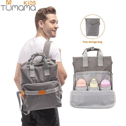 Tumama Baby Care Bag Mummy Maternity Nappy Bags Large Capacity Travel Backpack Desin Diaper Nursing Bottle Insulation Bags - Go Buy Dubai