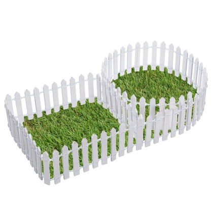 Garden Fence Christmas Fence Miniature Fence Fairy Garden Plastic DIY Lawn Dollhouse Garden Decor Tools 100*5cm/100*3cm - Go Buy Dubai