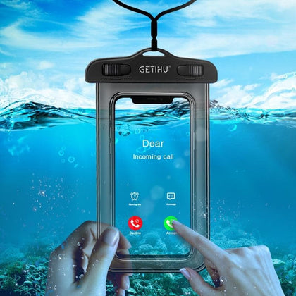 GETIHU Universal Waterproof Case Swim Cover Pouch Bag Cases Mobile Phone Coque Water proof Case For iPhone 11 X XS MAX 8 7 6 s 5 - Go Buy Dubai