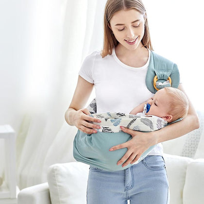 Baby Carrier Scarf Adjustable Front Facing Baby sling Wrap Baby Carrier Soft wrap Sling for Newborns Baby Kangaroos bag - Go Buy Dubai