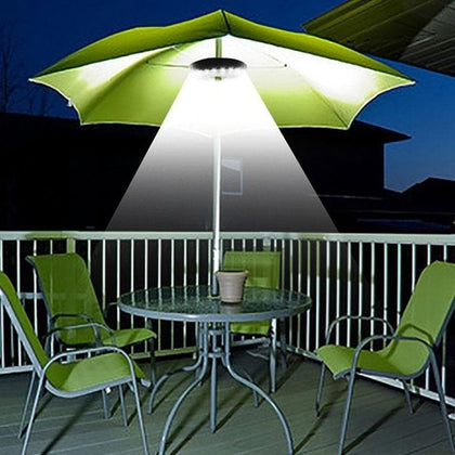 28LED Umbrella Night Lamp Portable Garden Umbrella Pole Light Camping Tent Light Outdoor Patio Yard Umbrella Pole Lamp - Go Buy Dubai