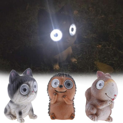 Patio Lawn Lamp Bright Eyes Solar Light LED Pet Animal Garden Ornaments Boxed Great Gift Idea Waterproof Solar Pet Animals Light - Go Buy Dubai