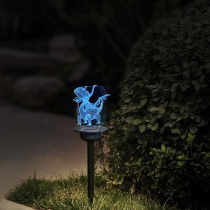 Solar Powered LED Light Transparent Acrylic Outdoor Garden Lawn Pathway Landscape Lamp TN99 - Go Buy Dubai