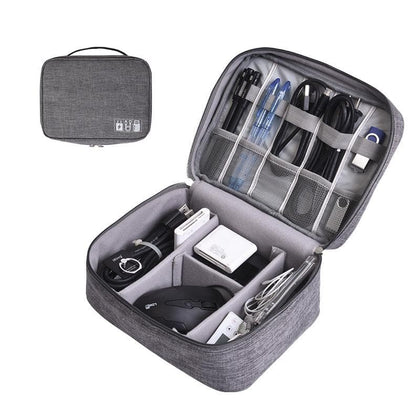 Travel Storage Bag Kit Data Cable U Disk Power Bank Electronic Accessories Digital Gadget Devices Divider Organizer Containers - Go Buy Dubai