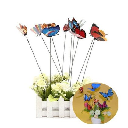 10pcs Butterfly Shaped On Stick Garden Vase Lawn Craft Art Plant Decoration - Go Buy Dubai
