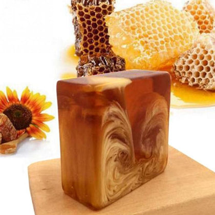 Natural Handmade Honey Soap Propolis Honey Milk Soap Face Care Replenishing Whitening Skin Beauty Bleaching Deep Cleansing Soap - Go Buy Dubai