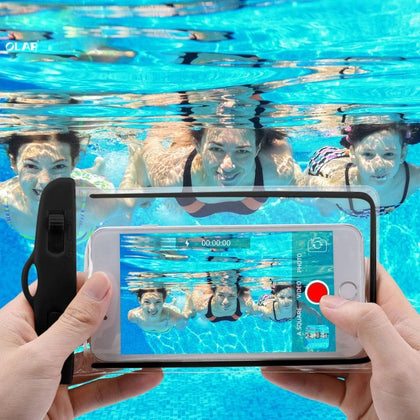 Waterproof Bag Mobile Phone Case for iPhone X 8 Underwater Luminous Phone Pouch Cover for Samsung S9 Clear PVC Sealed Swim Case - Go Buy Dubai