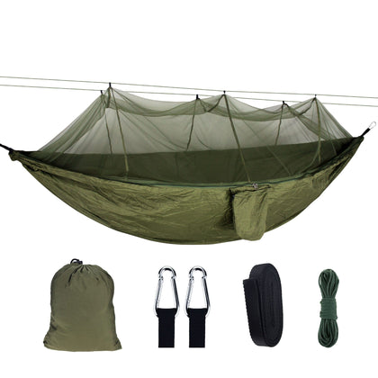 OEM high quality Outdoor Portable Nylon Single/Double folding Camping Indoor Travel Mosquito Net Hammock with tree straps - Go Buy Dubai