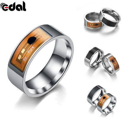 Smart Rings Multifunction Fashion NFC Open Smart Lock Intelligent Wear Ring Black Finger Digital Ring for Android Phone - Go Buy Dubai