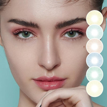 Color Contact Lenses 2pcs/Pair Colored Contact Lenses Natural Contact Lenses For Eyes Color Yearly Cosmetic Contact Lens - Go Buy Dubai