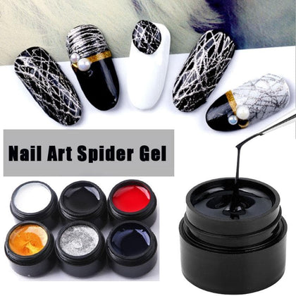 Lghzlink 8ml Painting Spider Gel DIY Nail Art Design Point To Line Drawing Creative Decoration Pulling Silk Spider Gel Lacquer - Go Buy Dubai